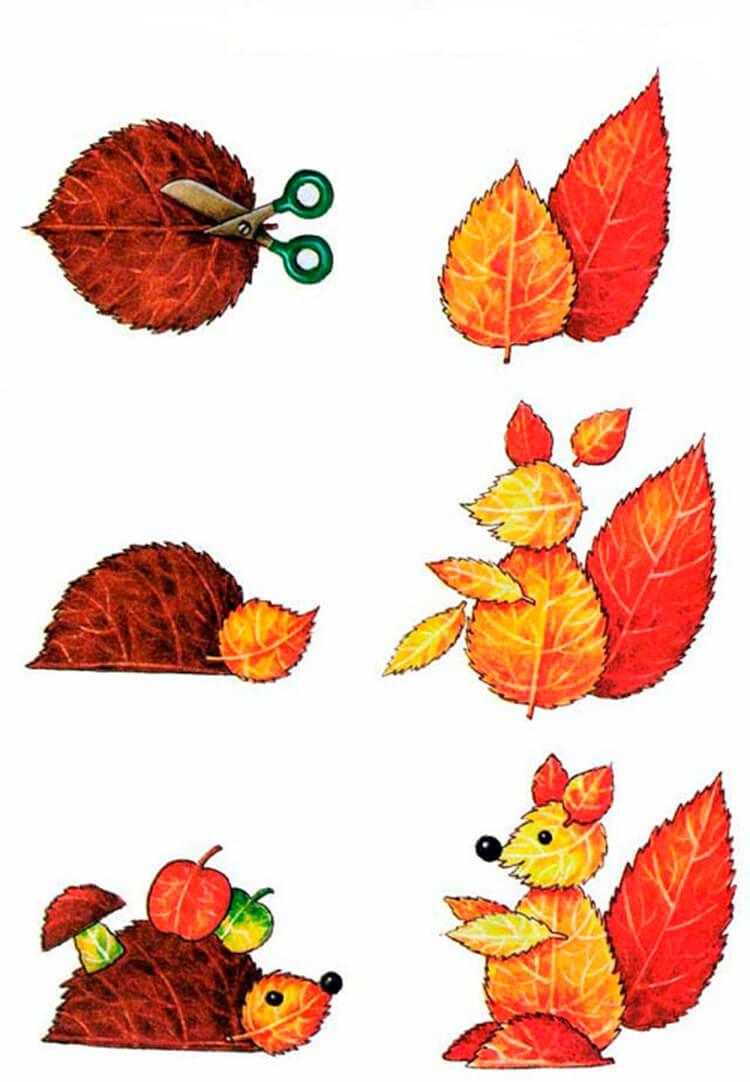 Что можно сделать из сухих осенних листьев: варианты с фото podelki s detkami iz suhih list ev 2