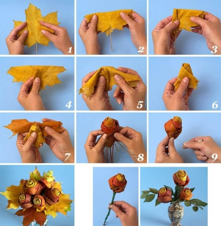 Что можно сделать из сухих осенних листьев: варианты с фото podelki s detkami iz suhih list ev 20