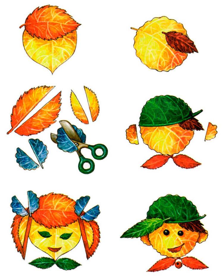 Что можно сделать из сухих осенних листьев: варианты с фото podelki s detkami iz suhih list ev 3