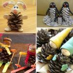 Что можно сделать из шишек для детского сада: варианты поделок