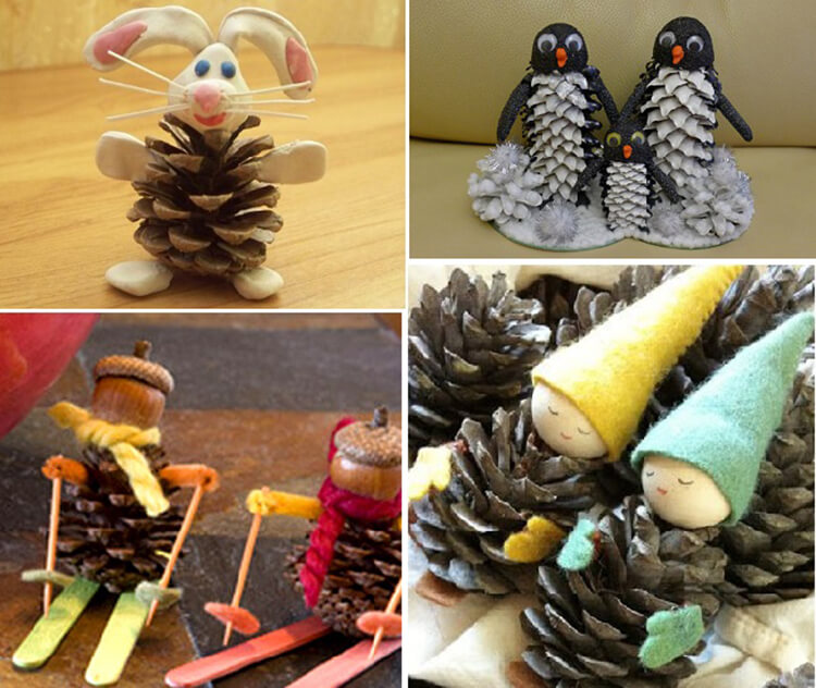 Что можно сделать из шишек для детского сада: варианты поделок podelki v sad iz shishek 0