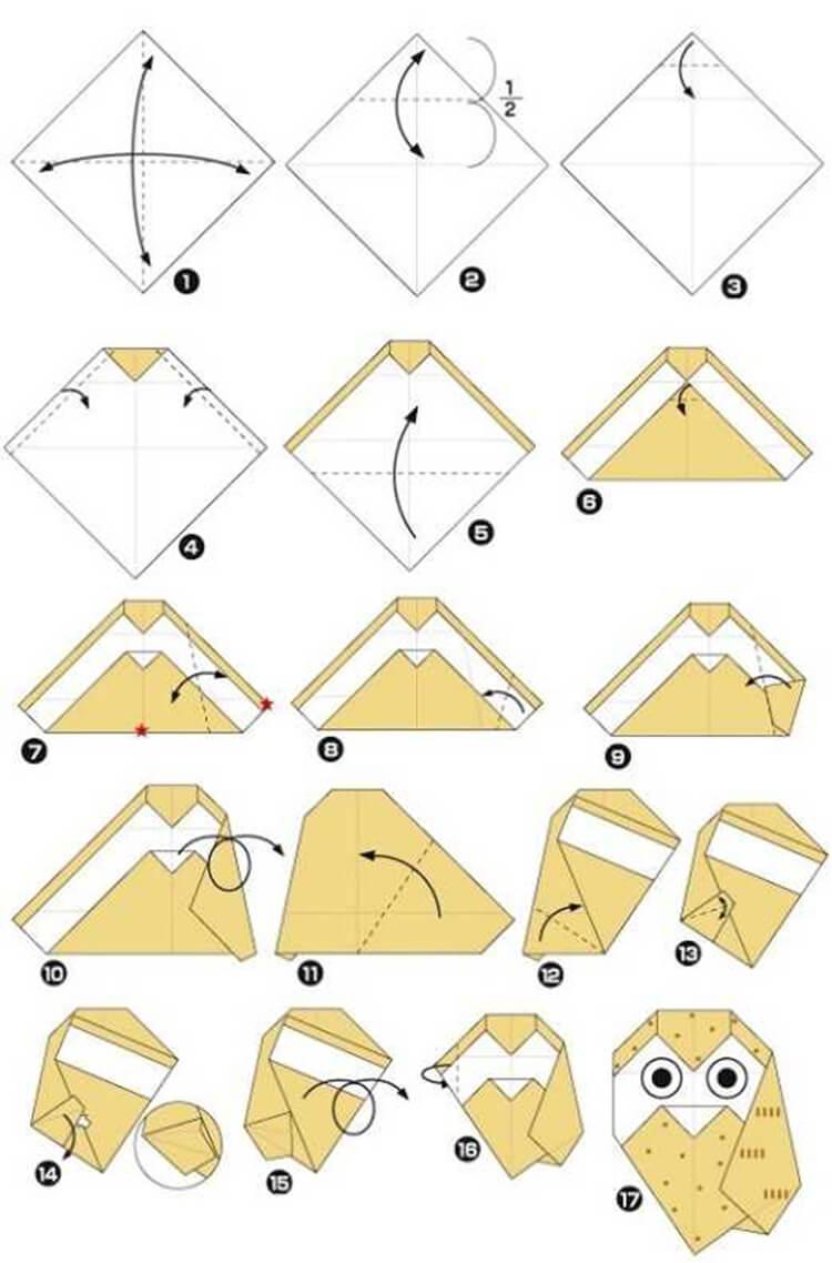 Сова из бумаги: различные варианты поделки sova iz bumagi 21