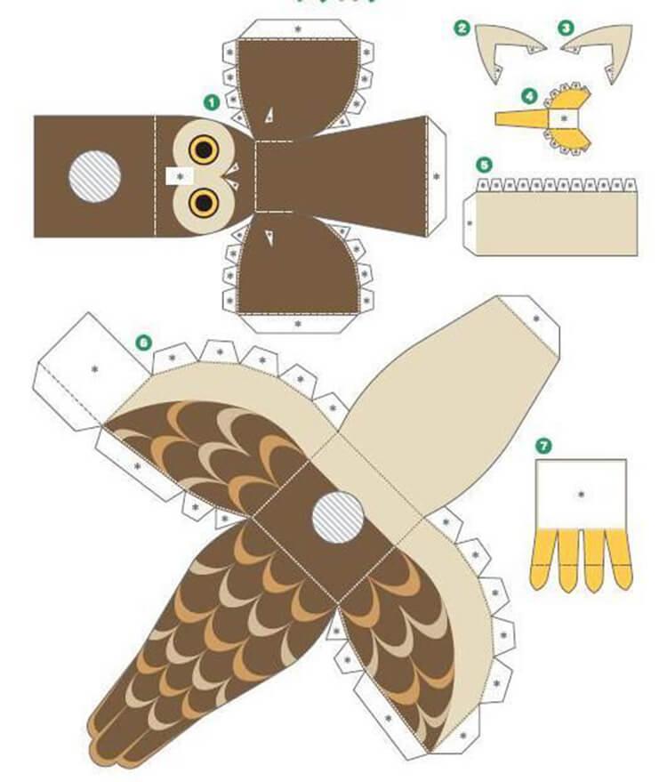 Сова из бумаги: различные варианты поделки sova iz bumagi 4