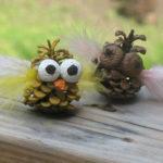 Делаем сову из шишек для детского сада