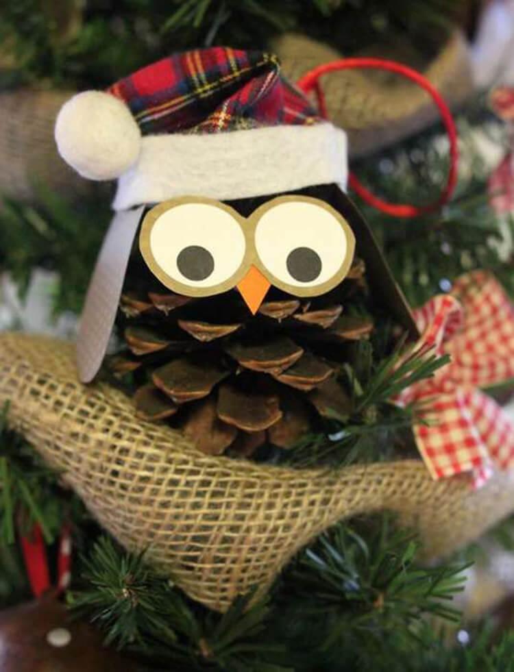 Делаем сову из шишек для детского сада sova iz shishek 14
