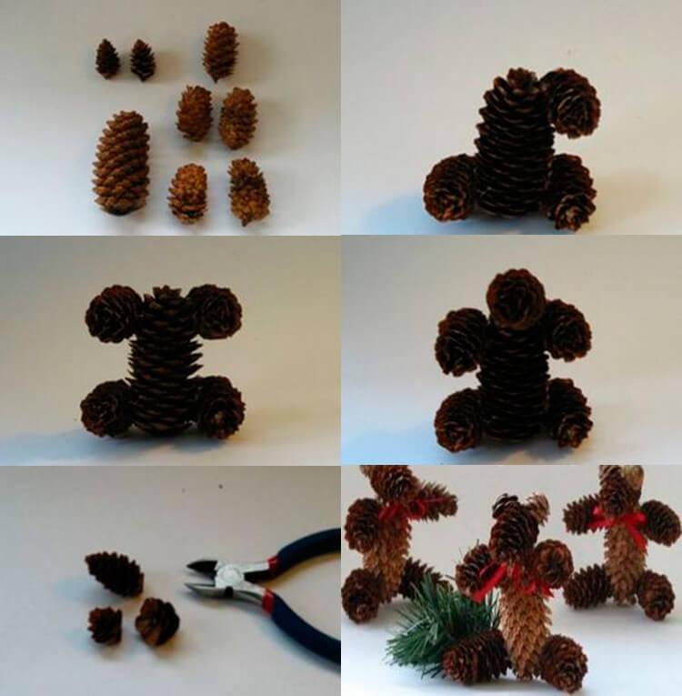 Как можно сделать медведя из шишек: варианты для детского сада 15 1 15 2
