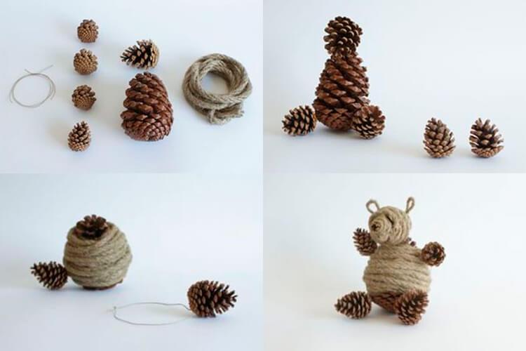 Как можно сделать медведя из шишек: варианты для детского сада 2 1 – 2 4