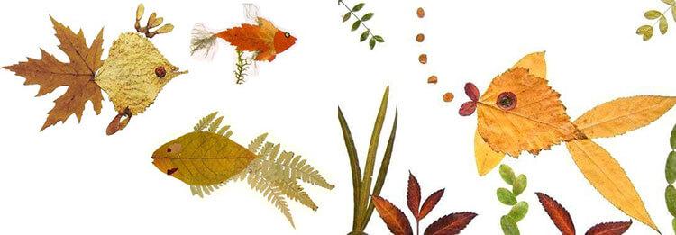 Аппликации из листьев на тему Осень: интересные поделки с фото 26 27