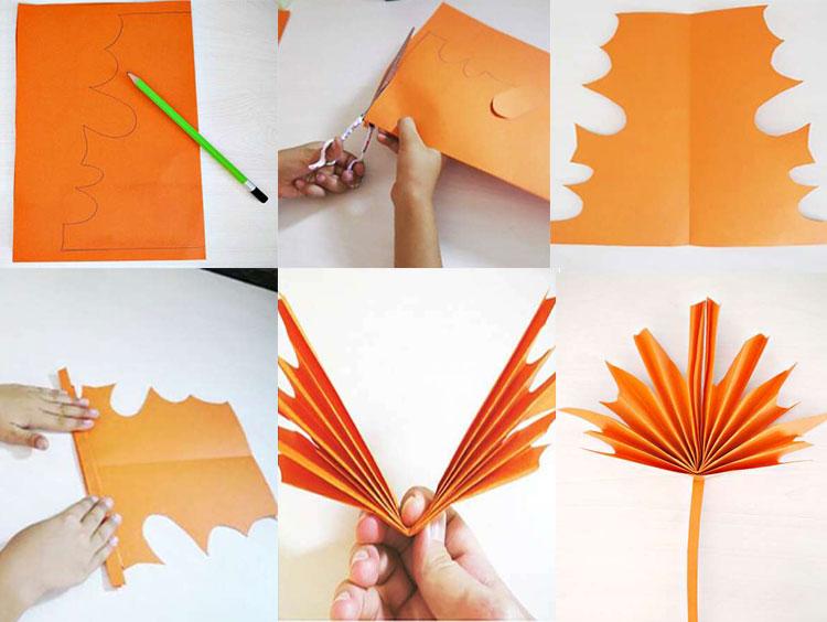 Что можно сделать из бумаги на тему Осень: мастер классы с фото 555