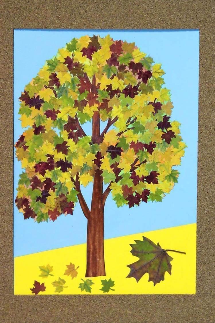 Детская аппликация на тему осень в картинках