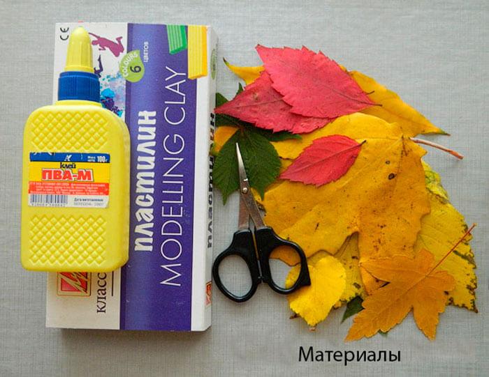 Аппликации из листьев на тему Осень: интересные поделки с фото applikacii iz listev 17