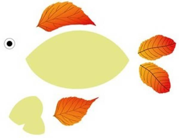Аппликации из листьев на тему Осень: интересные поделки с фото applikacii iz listev 32