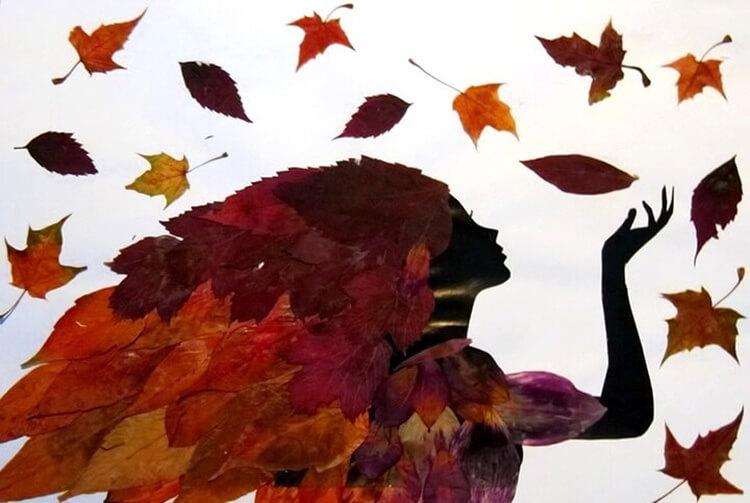 Аппликации из листьев на тему Осень: интересные поделки с фото applikacii iz listev 46