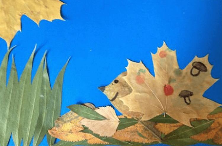 Аппликации из листьев на тему Осень: интересные поделки с фото applikacii iz listev 69