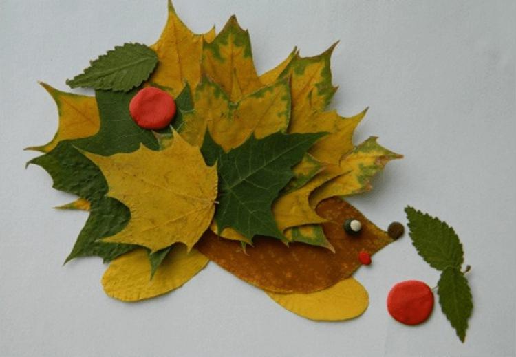 Аппликации из листьев на тему Осень: интересные поделки с фото applikacii iz listev 70