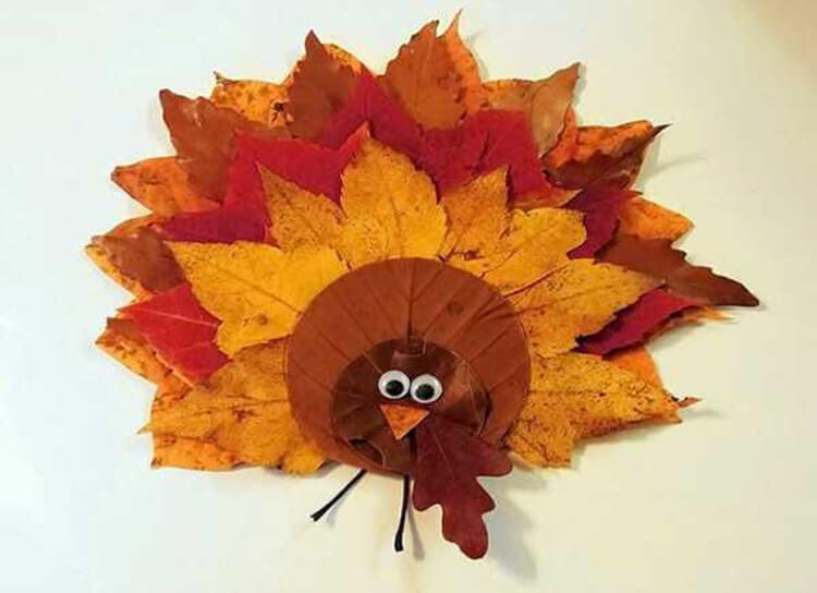 Аппликации из листьев на тему Осень: интересные поделки с фото applikacii iz listev 71