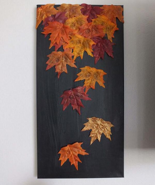 Аппликации из листьев на тему Осень: интересные поделки с фото applikacii iz listev 72
