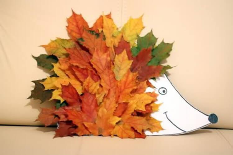 Аппликации из листьев на тему Осень: интересные поделки с фото applikacii iz listev 74
