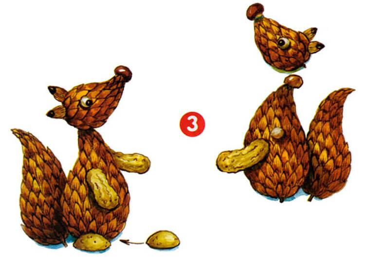 Как сделать белку из шишек: подробные мастер классы belka iz shishek podelka 11