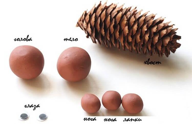Как сделать белку из шишек: подробные мастер классы belka iz shishek podelka 12 1