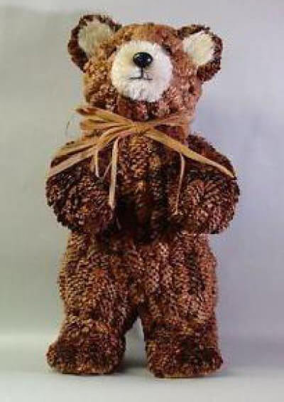 Как можно сделать медведя из шишек: варианты для детского сада kak sdelat medvedya iz shishek 14
