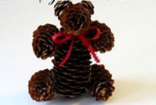 Как можно сделать медведя из шишек: варианты для детского сада kak sdelat medvedya iz shishek 15