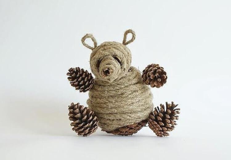 Как можно сделать медведя из шишек: варианты для детского сада kak sdelat medvedya iz shishek 2