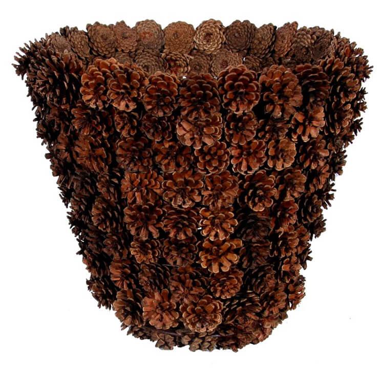 Корзина из шишек: интересная поделка и оригинальный декор для дома korzinka iz shishek 13