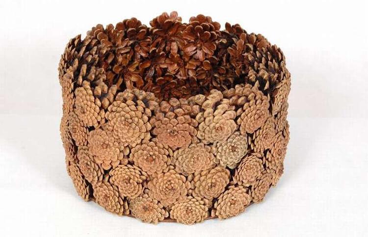 Корзина из шишек: интересная поделка и оригинальный декор для дома korzinka iz shishek 14