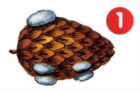 Совместная поделка с ребенком: олень из шишек olen iz shishek 2