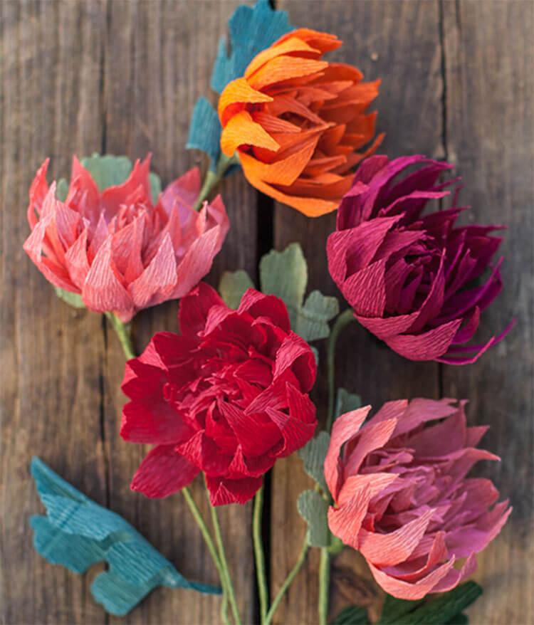 Что можно сделать из бумаги на тему Осень: мастер классы с фото osennie cvety iz bumagi 10