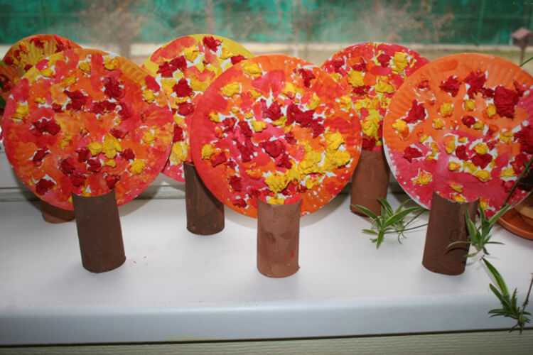 Что можно сделать из бумаги на тему Осень: мастер классы с фото osennie cvety iz bumagi 37