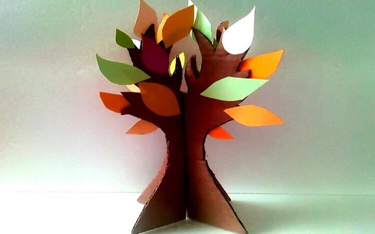 Что можно сделать из бумаги на тему Осень: мастер классы с фото osennie cvety iz bumagi 41
