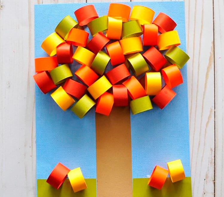 Что можно сделать из бумаги на тему Осень: мастер классы с фото osennie cvety iz bumagi 50