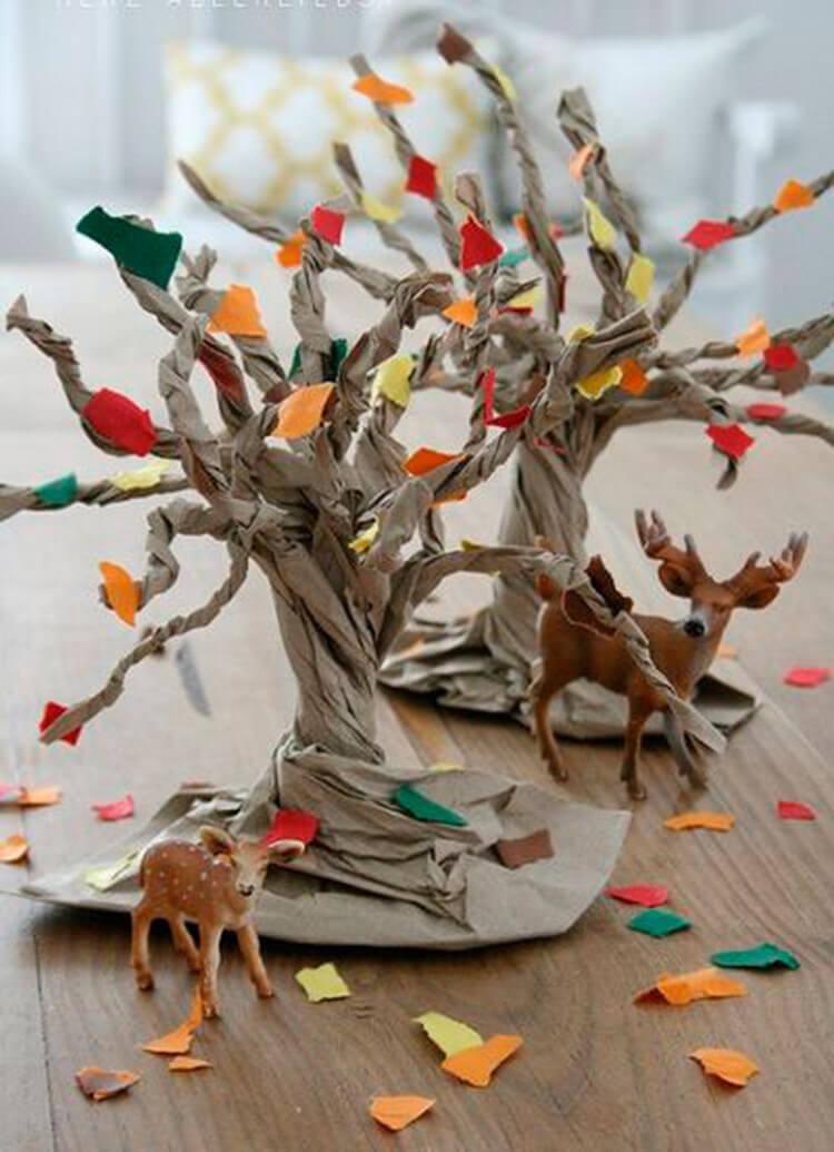 Что можно сделать из бумаги на тему Осень: мастер классы с фото osennie cvety iz bumagi 53