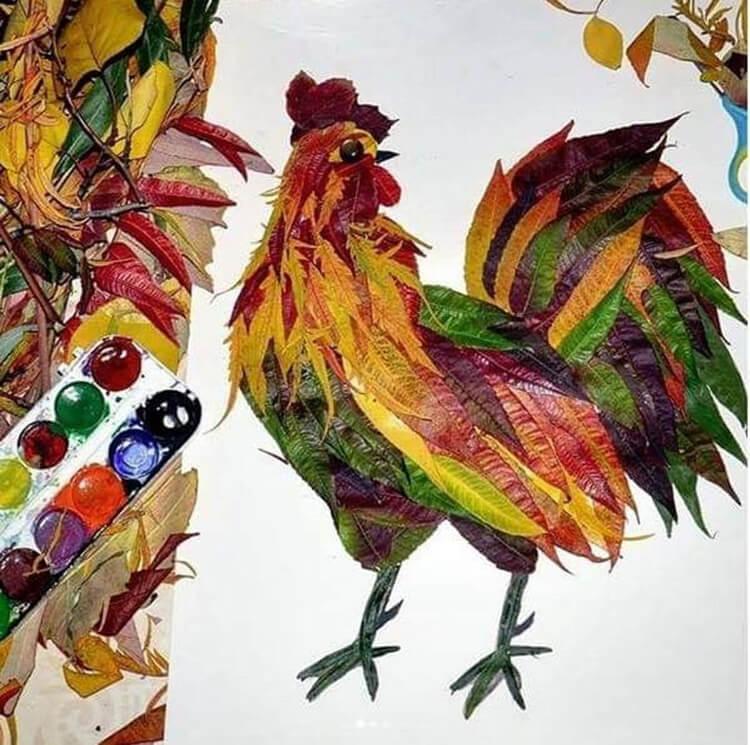 Интересные и красивые поделки из осенних листьев в садик и школу osennie podelki iz listev 100