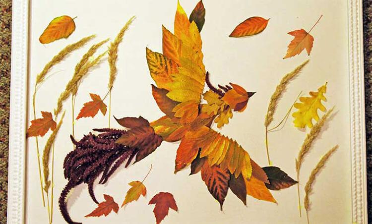 Интересные и красивые поделки из осенних листьев в садик и школу osennie podelki iz listev 103