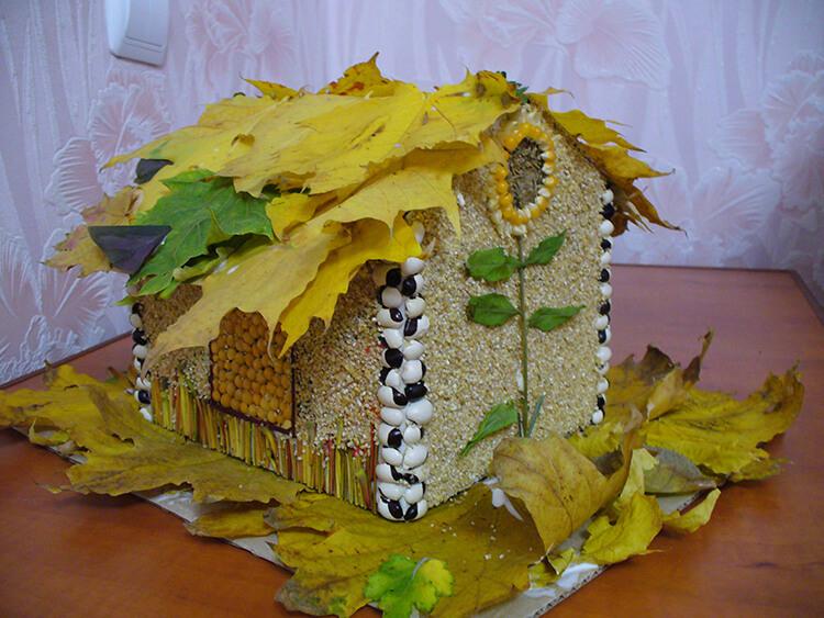 Интересные и красивые поделки из осенних листьев в садик и школу osennie podelki iz listev 104