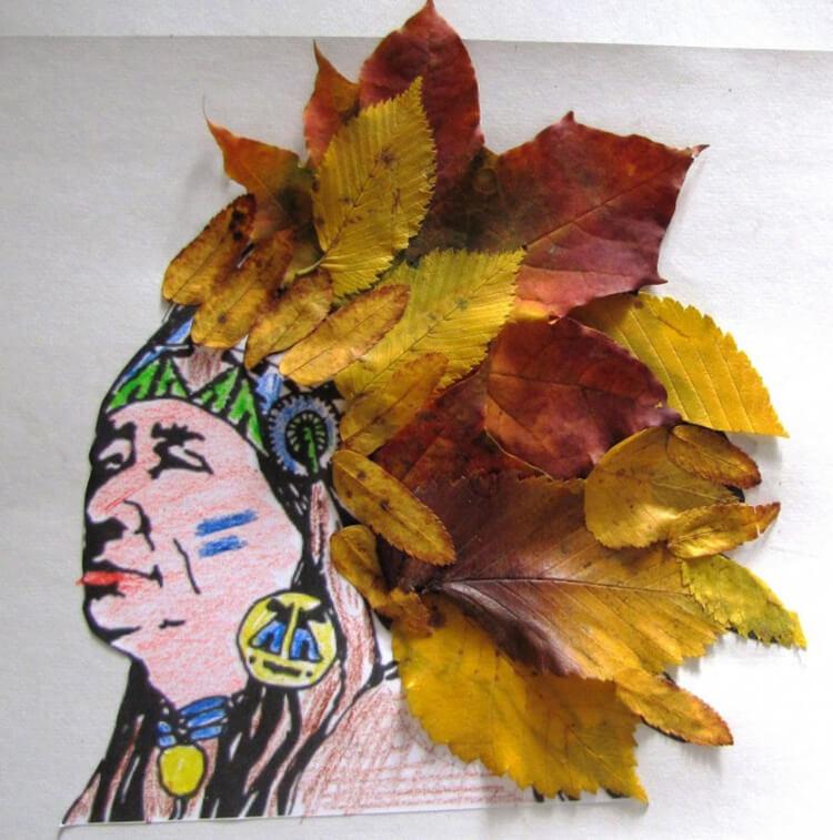 Интересные и красивые поделки из осенних листьев в садик и школу osennie podelki iz listev 105