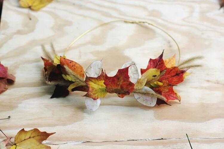Интересные и красивые поделки из осенних листьев в садик и школу osennie podelki iz listev 18