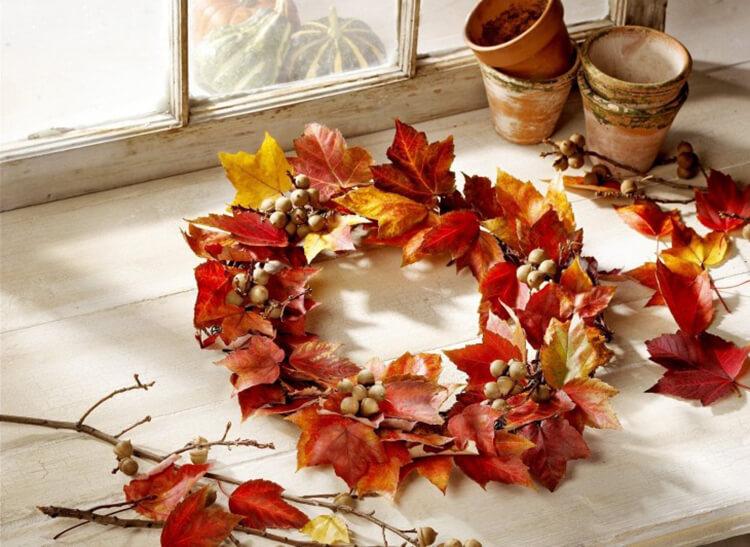 Интересные и красивые поделки из осенних листьев в садик и школу osennie podelki iz listev 23