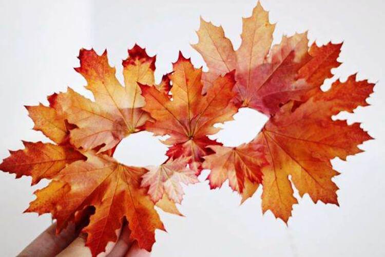 Интересные и красивые поделки из осенних листьев в садик и школу osennie podelki iz listev 27