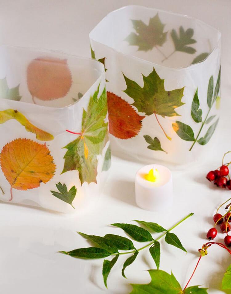 Интересные и красивые поделки из осенних листьев в садик и школу osennie podelki iz listev 33