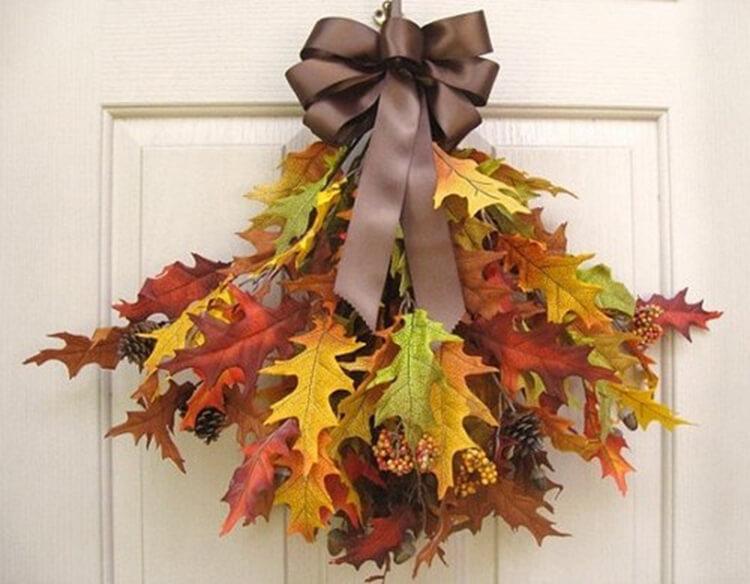 Интересные и красивые поделки из осенних листьев в садик и школу osennie podelki iz listev 35