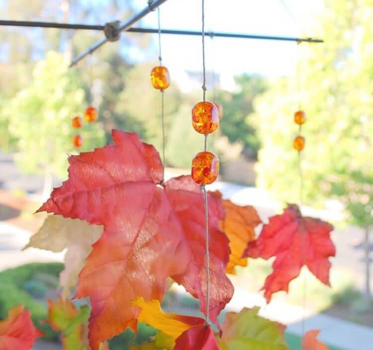 Интересные и красивые поделки из осенних листьев в садик и школу osennie podelki iz listev 36