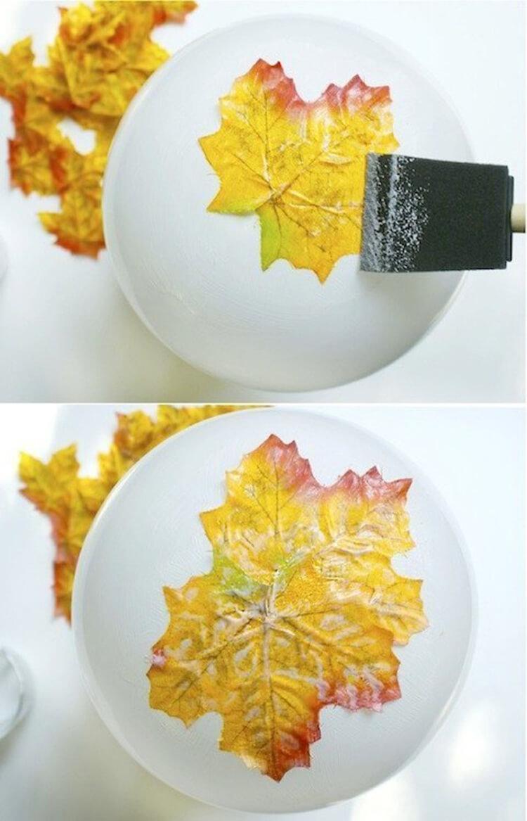 Интересные и красивые поделки из осенних листьев в садик и школу osennie podelki iz listev 40