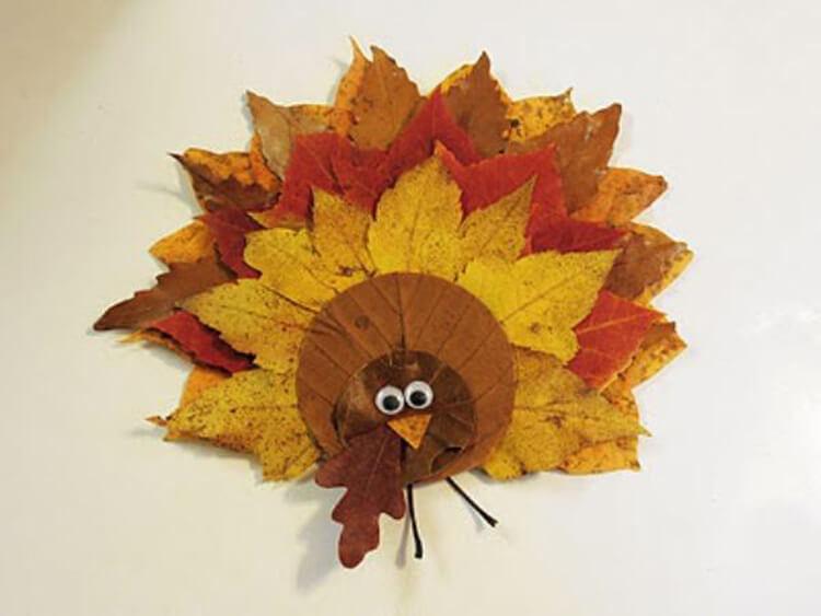 Интересные и красивые поделки из осенних листьев в садик и школу osennie podelki iz listev 57