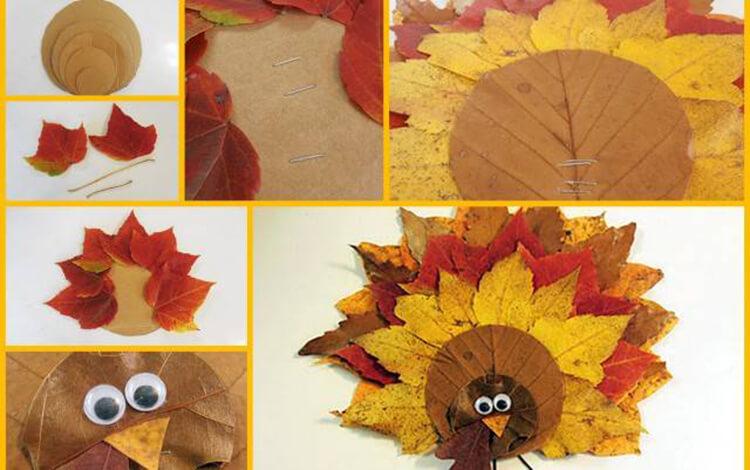 Интересные и красивые поделки из осенних листьев в садик и школу osennie podelki iz listev 58