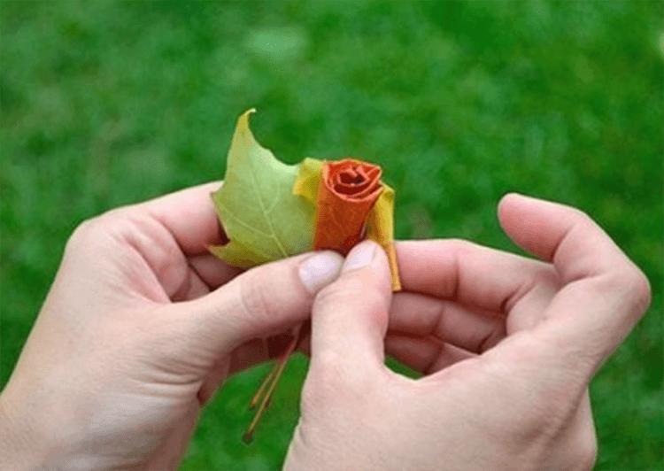Интересные и красивые поделки из осенних листьев в садик и школу osennie podelki iz listev 64