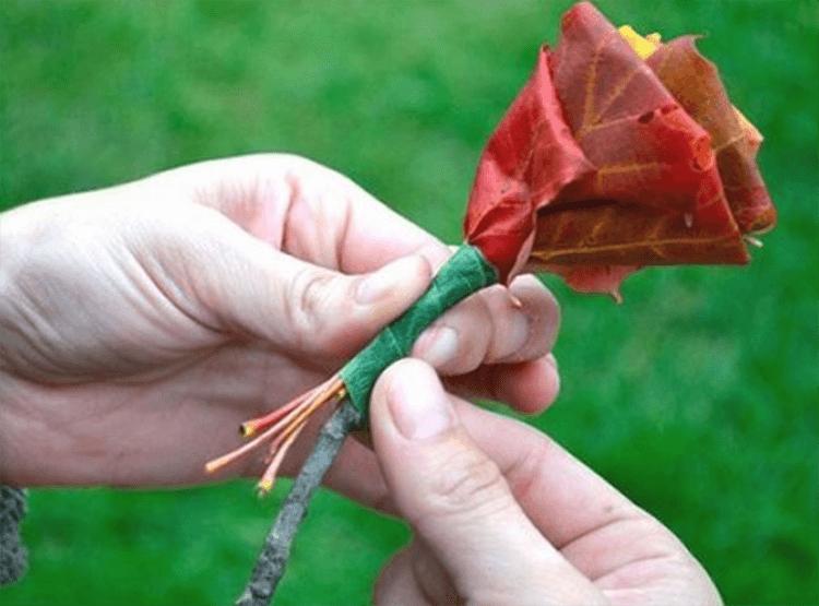 Интересные и красивые поделки из осенних листьев в садик и школу osennie podelki iz listev 66